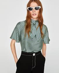 printed blouse printed blouse blouses shirts tops zara united states