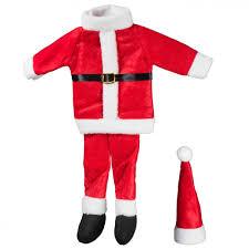santa suit santa suit wine bottle cover 17064 craftoutlet