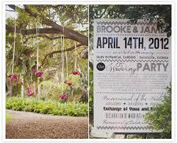 wedding program poster modern florida wedding real weddings 100 layer