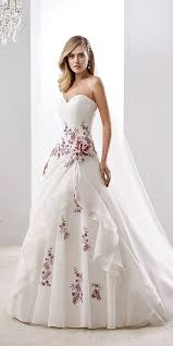 colored wedding dresses 36 floral wedding dresses that are incredibly pretty wedding