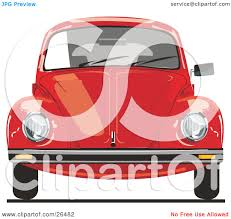 volkswagen bug clip art clipart illustration of the front of a red vw bug car by david rey