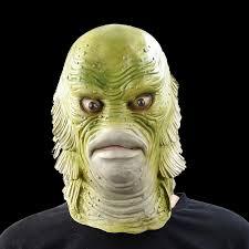 Creature Black Lagoon Halloween Costume Scary Monster Latex Fish Mask Creature Black Lagoon