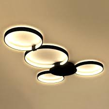 Flush To Ceiling Light Fixtures Vonn Lighting Vmcf41500bl Capella Black Ceiling Light Kitchen