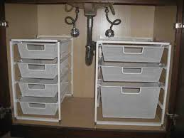 Bathroom Sink Organizer Ideas Under Sink Bathroom Storage Safemarket Us