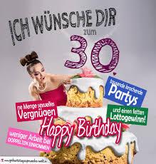 geburtstagssprüche 30 lustig glückwünsche geburtstagskarte 30 geburtstag mit torte