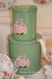 Green Kitchen Canisters 229 Best Kitchen Canisters Vintage Images On Pinterest Kitchen