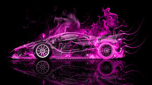 car ferrari pink ferrari fxx k side fire abstract car 2015 el tony