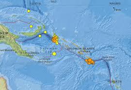 Solomon Islands Map M7 6 Earthquake Strikes Off The Solomon Islands 13 April 2014