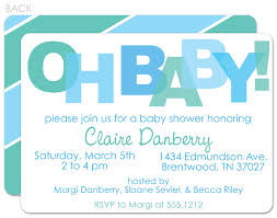 Baby Shower Invite Boy Design Baby Boy Shower Invitations