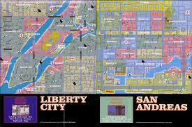 San Andreas Map Map Of Liberty City U0026 San Andreas Classic R Pinterest