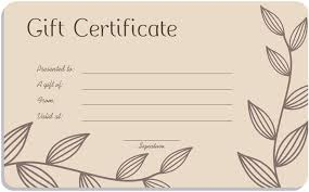 template for gift card cafe gift card template for microsoft word