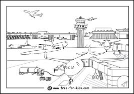 aeroplane colouring pages
