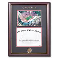 ohio state diploma frame ohio state mahoganey and gold diploma frame