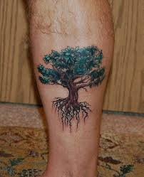 oak tree leg tattoomagz