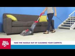 dirt devil quick and light carpet cleaner dirt devil fd50105 quick and light carpet washer review youtube