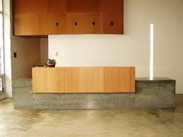Concrete Reception Desk Real Design M Concrete Studios Custom Concrete