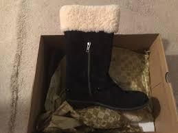 ugg womens karyn boot ugg australia s karyn black suede boot size 8 retail 1005449