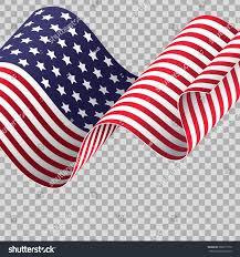 Waving American Flag Waving American Flag On Transparent Background Stock Vector