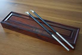 engraved chopsticks top quality 925 sterling silver wood traditional