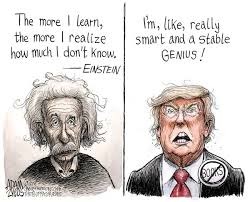 a stable genius and humble too political cartoons whittier