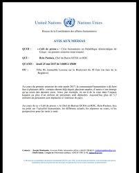 bureau de la coordination des affaires humanitaires ochadrc on tomorrow thursday 2pm reinpaulsen of