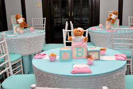 Baby Shower Table - 101 easy to make baby shower centerpieces baby shower