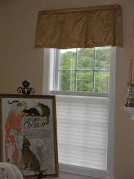 box pleated valance in silk silhouette shade with top down