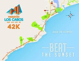 Map Of Cabo San Lucas Mexico by Los Cabos Marathon Cabos San Lucas Bajo California Sur 2017