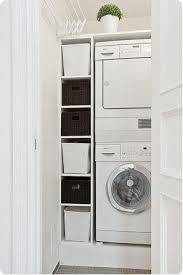 Space Saving Laundry Ideas White by Best 25 Small Laundry Closet Ideas On Pinterest Laundry Room