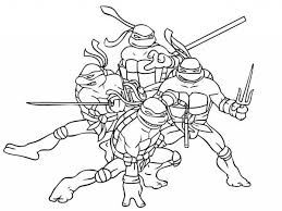 teenage ninja turtles coloring pages