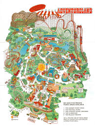 Cedar Fair Parks Map Newsplusnotes From The Vault Adventureland 1999 Brochure Map