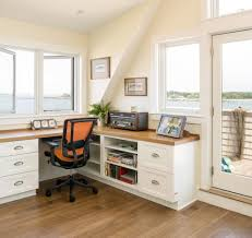 corner desk ideas home office beach style with built in corner