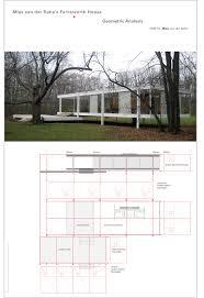 Floor Plan Of The House Van Der Rohe U0027s Farnsworth House Geometric Analysis On Behance