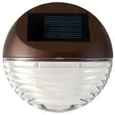 Solar Landscape Lights Home Depot by Moonrays Solar Powered Mini Led Bronze Round Outdoor Deck Light