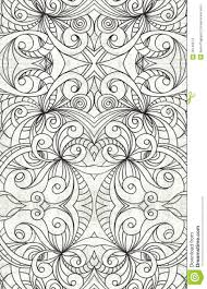 drawing floral abstract background stock illustration image