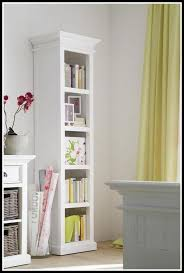home office tall white narrow bookcase furniture elegant living