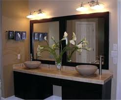 framed bathroom vanity mirrors ceiling light ideas slim cabinets