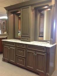 double sink vanity with middle tower double vanity with linen tower middle google search bathroom