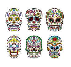 6 templates for sugar skulls hair mask sugar skulls