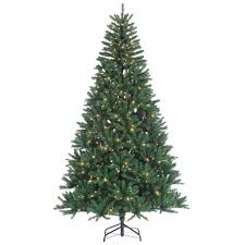 Lighted Christmas Tree Skirt 8 Ft Indoor Pre Lit Hudson Pine Artificial Christmas Tree With