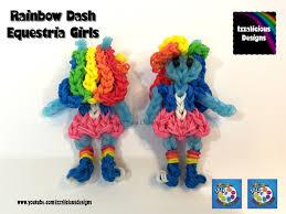 rainbow loom rainbow dash my little pony equestria mlp youtube