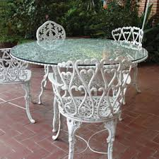 Wrought Iron Patio Tables Wrought Iron Patio Furniture With Glass Top Great For Keeping The