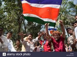 Dancing Flags Men Supporters Dancing Waving Mns Flag Celebrating Election