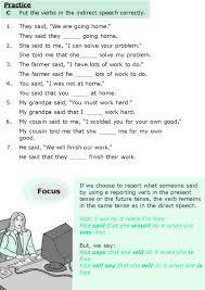 good grammar grade 6 grammar lesson 13 direct and indirect speech