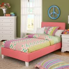 twin bedding sets for girls bedroom pink leather twin bed frame for girls featuring white