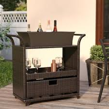 Serving Station Patio Cabinet Patio Bars U0026 Sets You U0027ll Love Wayfair