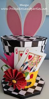 Mad Hatter Tea Party Centerpieces by Mad Hatter Tea Party Hat Box Ears Come Off To Open Box File From