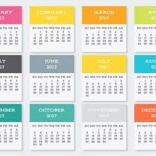 colorful pocket calendar cards collection 10684 dryicons