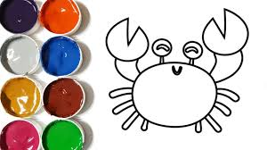 how to draw a crab coloring pages drawing for kids learn