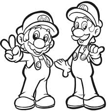 mario and luigi coloring pages coloringstar